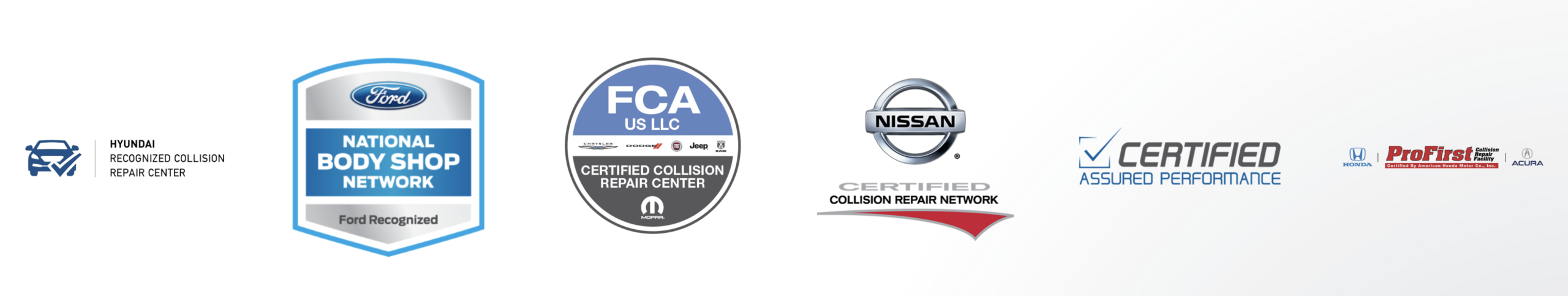 Butler's Collision certifications
